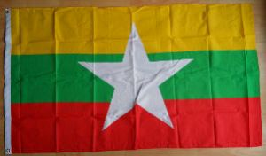 Myanmar 2010 Large Country Flag - 3' x 2'.